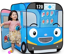 Tayo the little bus - Kids Mini Pop Up Play Tent Indoor House + 100 plastic balls