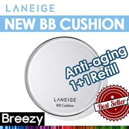 BREEZY ★ [Laneige] NEW [Anti-aging] BB Cushion SPF50+ PA+++
