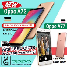 Oppo A73 l A77 Local 2yrs Official Warranty / 4GB RAM/ 64GB ROM. FREE CASE AND SCREEN PROTECTOR.