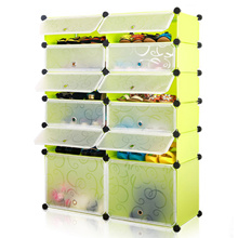 Multi-function Shoes Cabinet 6 Layers 12 Cubes Stackable Shoes Rack