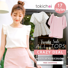 TOKICHOI - Aaimo Sale! Trendy Long Sleeve Tops Multi Colors Multi Styles - Free Shipping