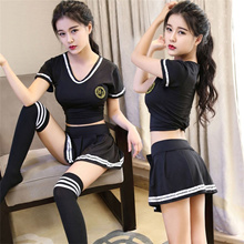porn pleated skirt cosplay youth student sexy lingerie unims sexy costumes women sex products sexy