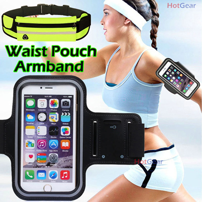 3cf1d0c3e32 Sports Armband   Waist Pouch Outdoor Running Arm Band Belt Strap Screen  Touchable SG Fast