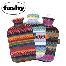 Fashy ファシー 湯たんぽ 2L Hot water bottle with cover in Peru design 6757