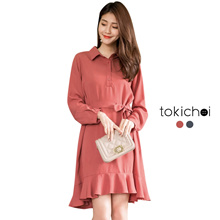 TOKICHOI - Frill Hem Shirt Dress-180243