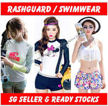 Rashguards Swimming Wear Swimwear Long Sleeve Swimsuit Sports Wear Surfing Water Fitness Women
