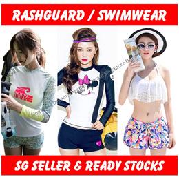 *SALES* Rashguards Swimming Wear Swimwear Long Sleeve Swimsuit Sports Wear Surfing Fitness Women