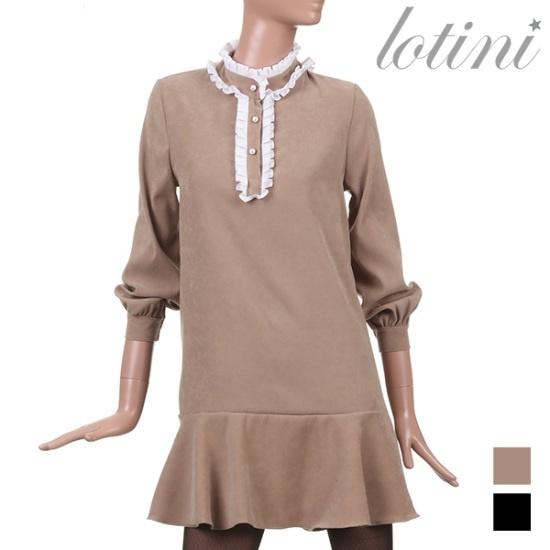ロティニLOTINIプリンセス晋州フリルのワンピースLTJOP05 面ワンピース/ 韓国ファッション
