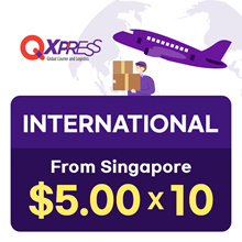 Qdelivery Voucher for SG to Global Delivery - Free 10 polymailers with every purchase of 10 vouchers