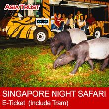 Singapore Night Safari E-Ticket  (Admission + Tram Ride)  新加坡夜间动物园门票(含游园车)