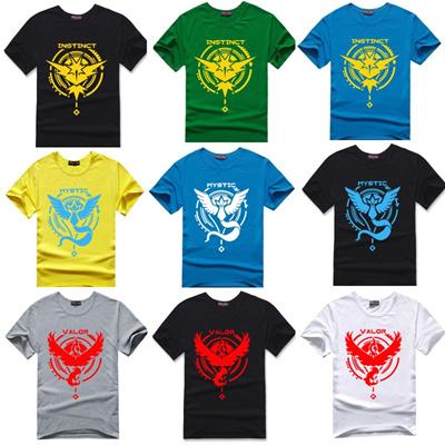 a07fd2389 High quality game Pokemon Go t-shirt Team Valor Mystic Instinct brand clothing  tshirt men