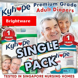 Single Pack★Adult Diaper/ Pants/Under Pad/Wipes★Japan Technology★Tested in SG Nursing Home★ 7-10 pc