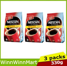 ( Bundle of 3 Packs ) NESCAFE CLASSIC Refill 300g FREE 30g ( EXP 11/2019 )