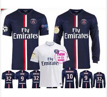 036d2ac9b Paris Saint-Germain soccer jersey 14-15 Paris-sleeved jersey Ibrahimovic  jersey Thai