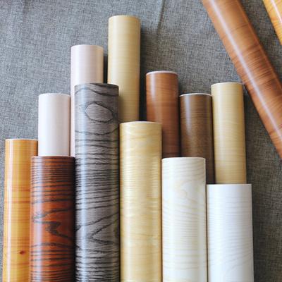 New Waterproof Wooden Self Adhesive Wallpaper Tv Background Wall Paper Cabinet Furniture Refurbished
