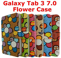 Smart Flower Rotate Case Cover for Samsung Galaxy Tab 3 7 7.0 SM-T210 T211 T215 Galaxy Note 3