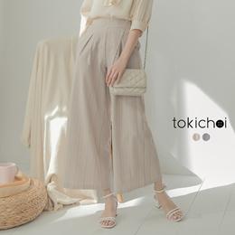 TOKICHOI - Front Pleat Trouser Striped Suit Wide Pants-190571