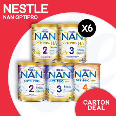 [NESTLÉ]?RESTOCKED!?Nan Optipro/HA/Kid hypoallergenic formulated milk | Bundle of 6 Deals for only S$250 instead of S$0