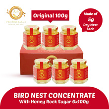 [MOTHERS DAY] 6 x 100g BIRD NEST Concentrate ★ Each made of 5g Dry Nest ★ Pristine Farms ★