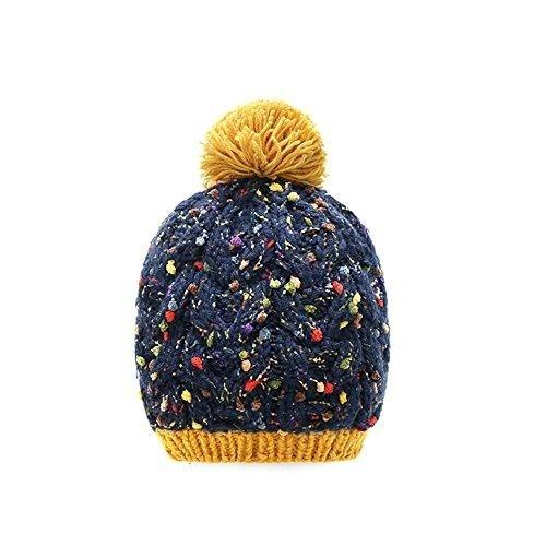 MOMOLAND Baby Toddler Girls Winter Hat Cap Knit Beanie Pom