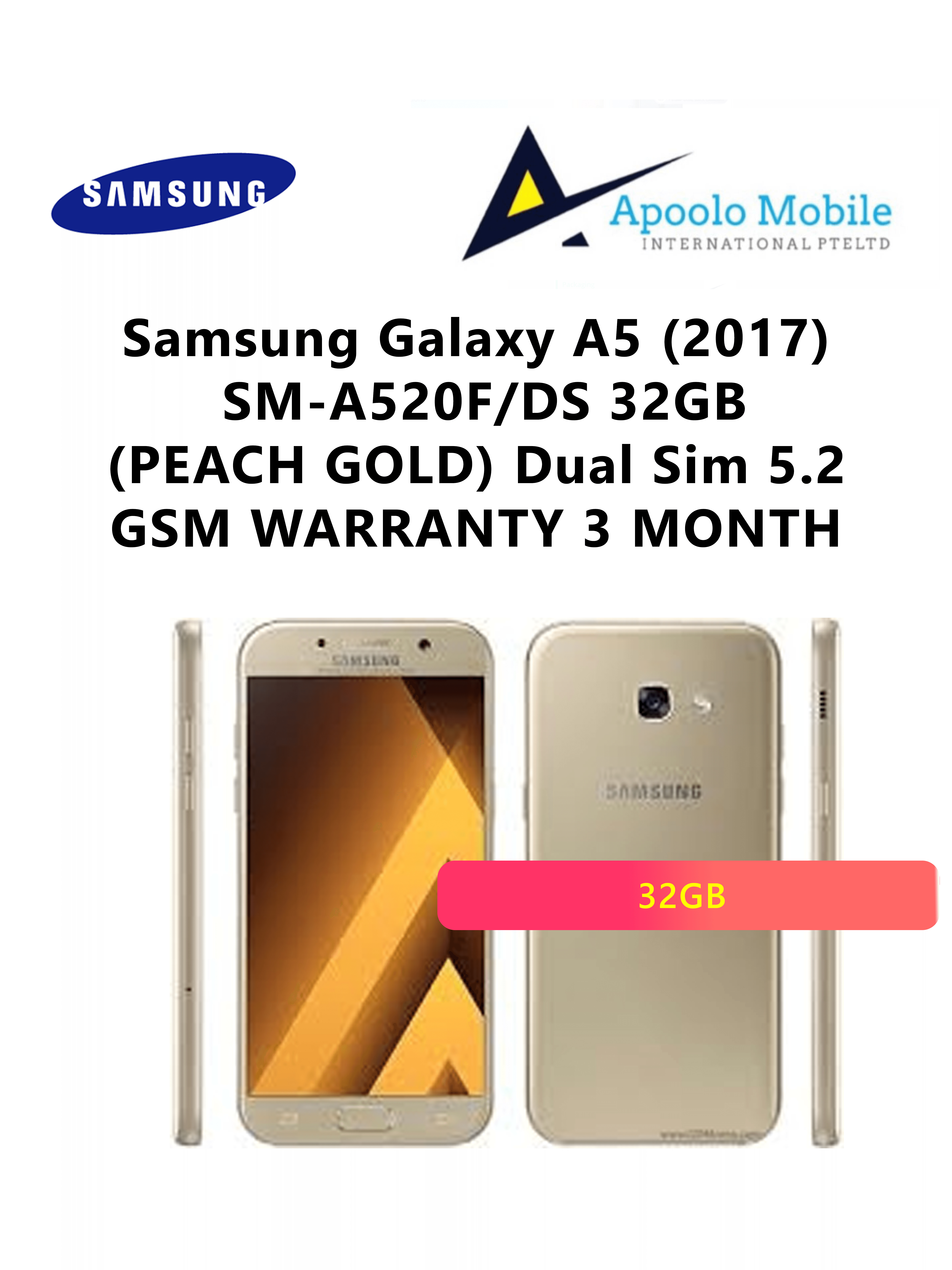 Samsung A5 2017 Mobile Devices Qoo10