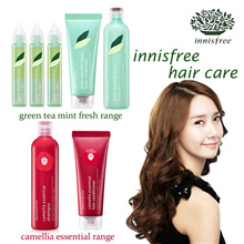 ★ INNISFREE ★  Green Tea Mint Fresh and Camelia Essential Shampoo / Hair Conditioner / Scalp Scaler