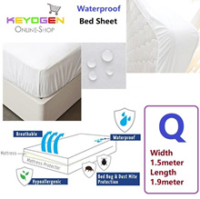 Waterproof Soft breathable bed sheet mattress protector - Queen