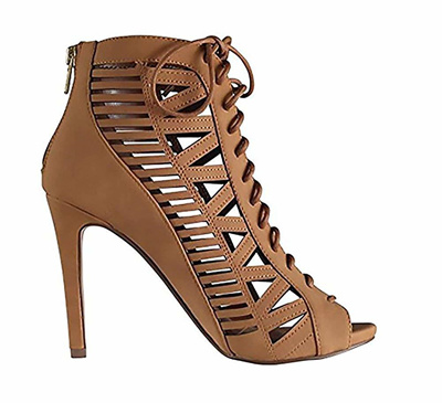 fb57e6f30d03 BESTON BA83 Womens Zipper Lace up Cut Out Stiletto Shoes Run One Size  Smaller
