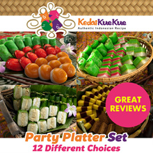 [KedaiKueKue] Authentic Indonesian Kueh Party Platter Sets. 12 Delicious Set Choices.