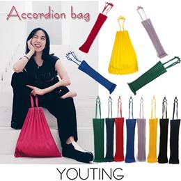 【New】 Japanese style accordion foldable bag handbag shopping bag tote shoulder bag