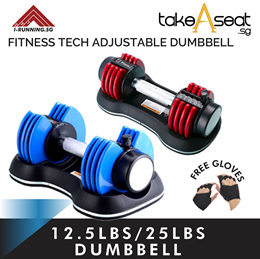 Fitness Tech Adjustable Dumbbells 12.5Ib or 25Ib (Pair) optional stand package (INSTOCK)