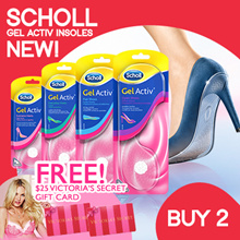 [RB] VICTORIA SECRET VOUCHER! Scholl GelActiv Insoles For Female (Open/Flats/Everyday Heel/High Heel