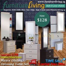 Furniture Living SG - New Dresser Set in Maple White / Walnut colour for only $128!