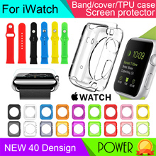 Apple watch series 3 2 1 strap case tempered glass screen protector charger stand holder iWatch band