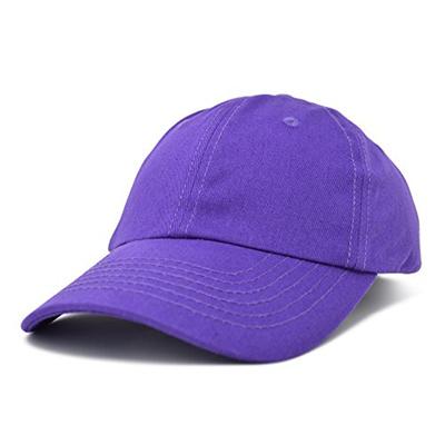 36bad3f4 Dalix Unisex Unstructured Cotton Cap Adjustable Plain Hat, Purple