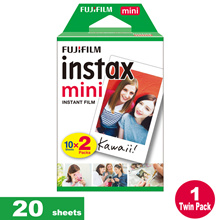 ♥Fujifilm Instax Mini Plain film♥ [SALES] ♥ Fujifilm Instax mini film 2 packs 20 sheets Polaroid