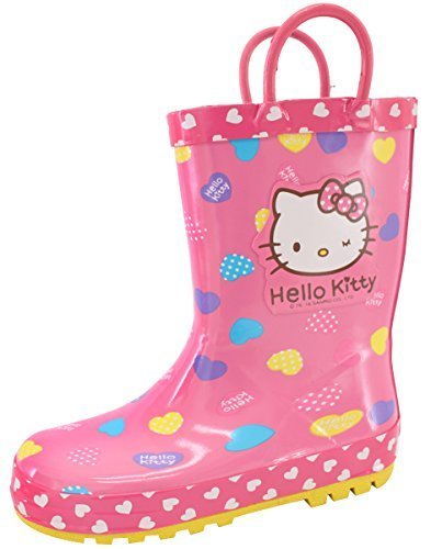 876a2d8f7 Qoo10 - Hello Kitty Wink Girls Pink Rain Boots Shoes (Toddler/Youth ...