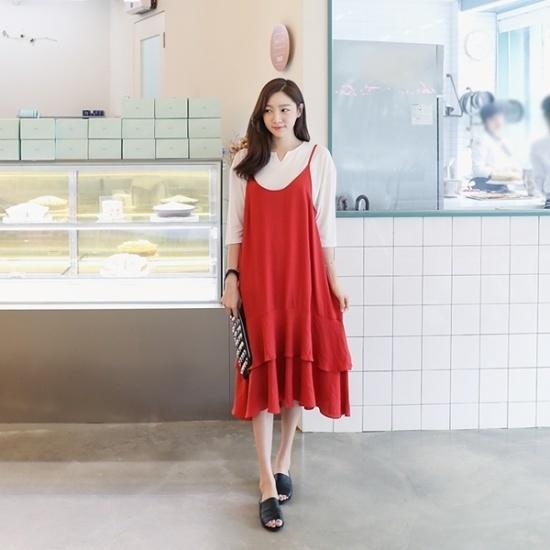 ロロテンテッラひもワンピース 綿ワンピース/ 韓国ファッション