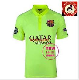 Barcelona Away Jersey 14-15 second Basa Ou crown green jersey Jersey Collectors Edition Barcelona sh