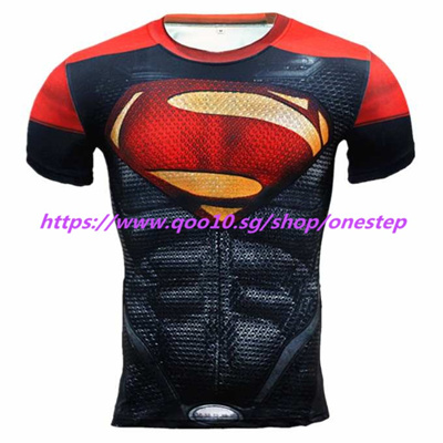 45235a082 Superman 3D Muscle Shirt Slim Fit T Shirts Bodybuilding Weight Lifting  Muscle Top Men Compression ti