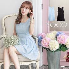 YOCO - Mini Pleat Skater Dress-6010373