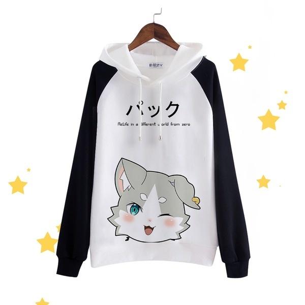 Zero Packロングスリーブセーターフード付きブラウスアニメセーターコスプレC