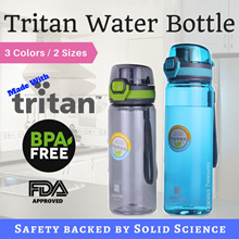 Tritan BPA Free Water Bottle 400ml 550ml Anti-Spill Ergonomic Design One Hand Open Design