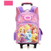 6 Wheels Kids Trolley Elementary School Princess 3D Waterproof Backpack