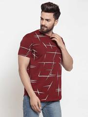 Maroon All Print Tshirt