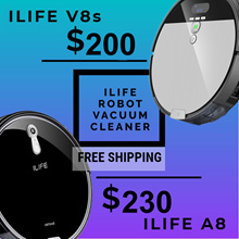 [Local Warranty] iLife V8S / iLife A8 Robotic Vacuum Cleaner | Ready Stock | Buy Local