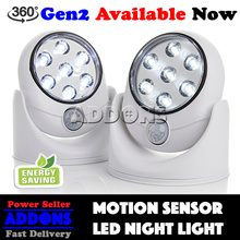 Motion Activated Cordless LED Night Light / Light Angel / Auto Sensor / 360degree adjustable light