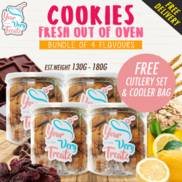 Signature Cookies Bundle of 4! 4 Different flavours in a Set!
