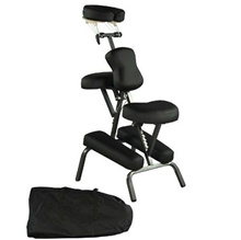 Black New BestMassage Portable Massage Chair Tattoo Spa Free Carry Case 8