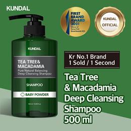 [KUNDAL] Tea Tree and Macadamia Deep Cleansing Shampoo 500ml Baby Powder ✨Kr No.1 Brand✨